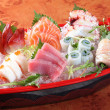 Japanese sashimi boat set — Stock Photo
