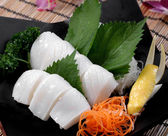 Japanese food sushi set cuttlefish design photo — Stock Photo