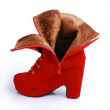 Fashion shoes  boots woman girl gift — Foto de Stock