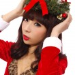 Stock Photo: AsiChristmas girl