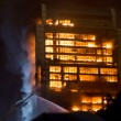 Stock Photo: 15 12 2013 Guangzhou Chinbuilding on fire big fires news