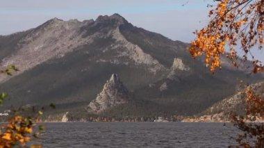 Autumn landscape in Burabay. — Stock Video