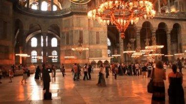 圣索非亚大教堂索菲亚博物馆在伊斯坦布尔. — 图库视频影像