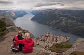 Over Vanity. Preikestolen rock, Norway. — Stock Photo