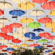 Multicolored Umbrellas — Stock Video