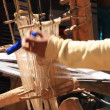 Weaving Traditional Scarf — Stock Video