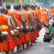 Monks Luang Prabang — Stock Photo