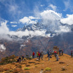 Trekking Mount Everest — Stock Photo