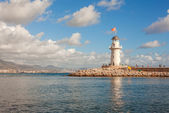 Lighthouse Alanya Harbor — Stock Photo