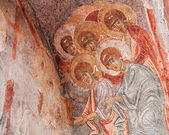 Ancient Byzantine Fresco — Stock Photo