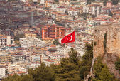Turkish Flag Alanya — Stock Photo