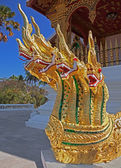 Architectural Heads Dragon Temple — Stock Photo