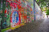John Lennon Memorial Wall — Stock Photo