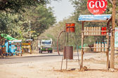 Rural Petrol Station Myanmar — Stock Photo