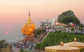 Golden Rock Sunset Myanmar — 图库照片