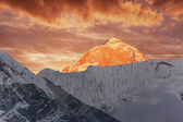 Makalu Peak Sunset Himalayas — Stock Photo