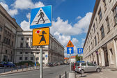 Warsaw Road Signs — Stockfoto