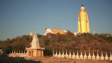 Big Buddha Monywa Panorama — Stock Video