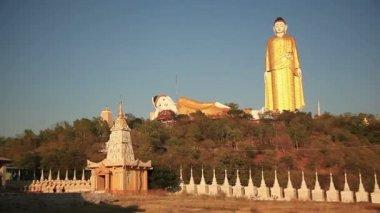 Big Buddha Monywa Panorama — Stock Video