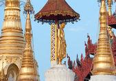 Golden Buddha Statue Swedagon Temple — Stock Photo