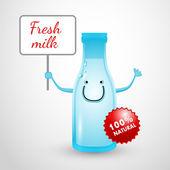 Milk Bottle — Stock Vector