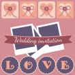 Photo frame with hearts. Vector illustration. — Stock Vector