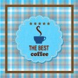 Best coffee stickers in form of cup. — Stock Vector #30544495