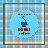 Best coffee stickers in form of cup. — Stock Vector