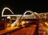 Railway station near Wembley stadium. — Stock Photo
