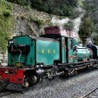 Steam narrow gauge locomotive. — Stock Photo