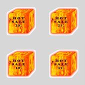Fire cubes. — Foto Stock
