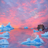 Icebergs. — Stock Photo