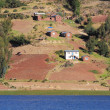 Shore of Titicaca lake. — Stock Photo