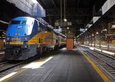 Passenger diesel train. — Stock Photo