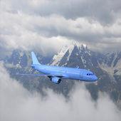 Yolcu uçağı. — Stok fotoğraf