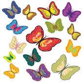 Butterflies. — Stock Vector