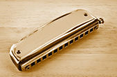 Old harmonica. — Stock Photo
