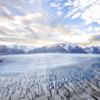 Grey glacier at sunset. — Stock Photo #41123731
