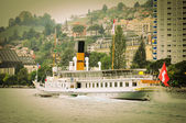 Old steamship near Montreux. — Stock Photo