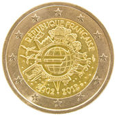 French 2 euro coin. — Stockfoto
