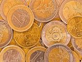 Metall mynt av Europeiska unionen. — Stockfoto