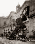 Accident of Montparnasse station. — Stock Photo