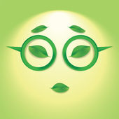 Sun face with glasses. — Stock Vector