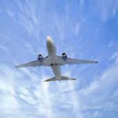 Plane in the sky. — Stock Photo