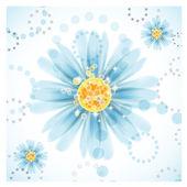 Tres flores de Margarita sobre fondo blanco. — Vector de stock