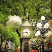Historical steam clock. — Stock Photo