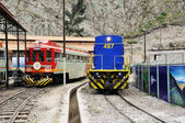Two diesel locomotives of Inca Rail and Perurail. — Stockfoto