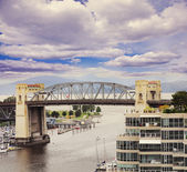 Evening view of Burrard Bridge. — Stock Photo