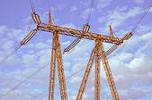 高圧鉄塔. — ストック写真