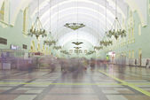 Interior of Moscow railway station. — Stock Photo